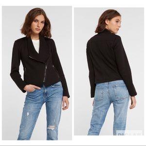 BB Dakota ottoman knit asymmetrical jacket